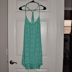 Hurley Teal Dress Pineapple Print Size XL